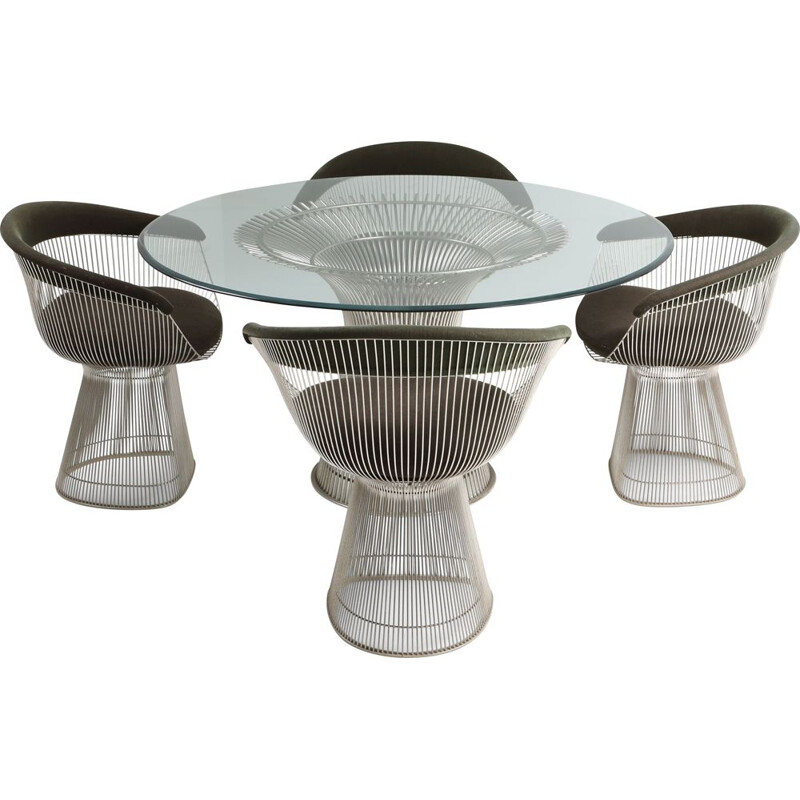 Set of vintage dining Room by Warren Platner for Knoll 1960