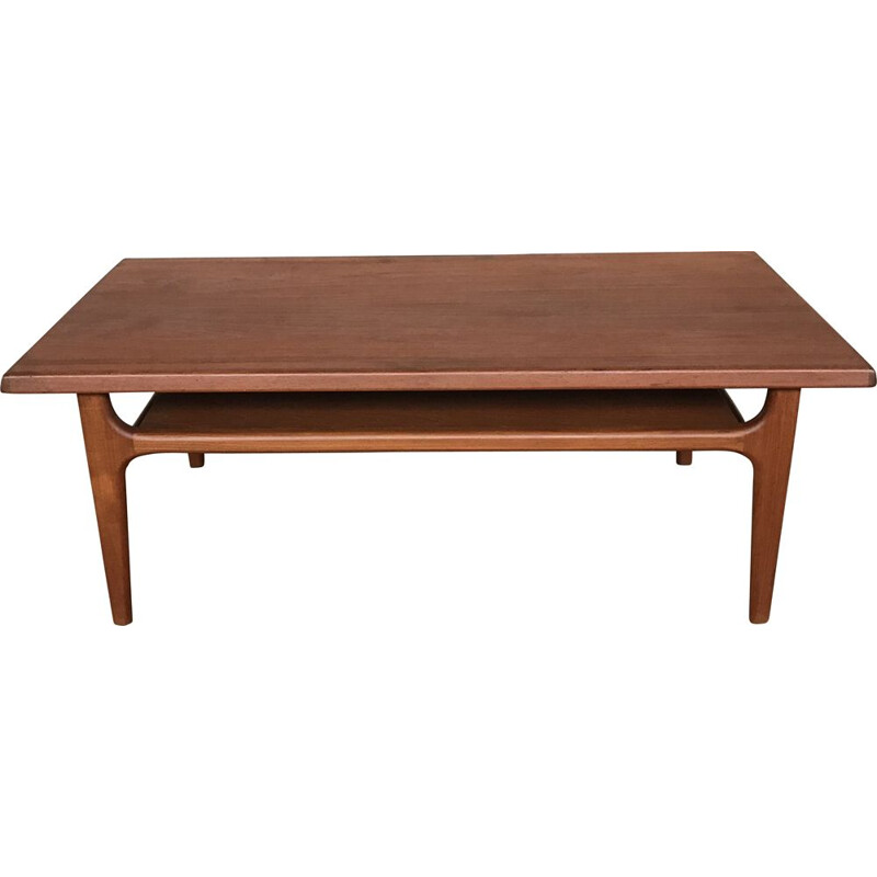 Vintage teak coffee table by Niels Bach, Denmark, 1960