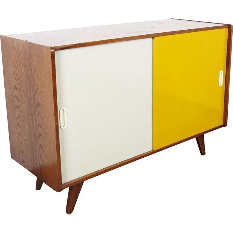 Vintage bicolore chest of drawers, by Jiri Jiroutek, 1960s