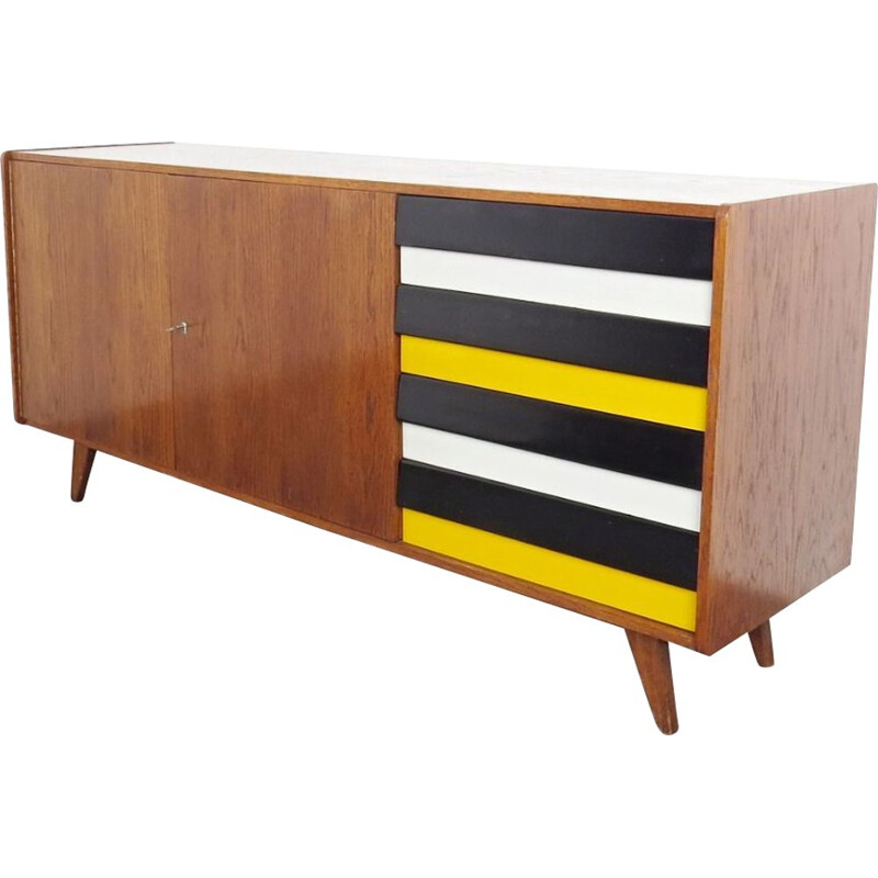 Vintage sideboard with patterns by Jiri Jiroutek, 1960s