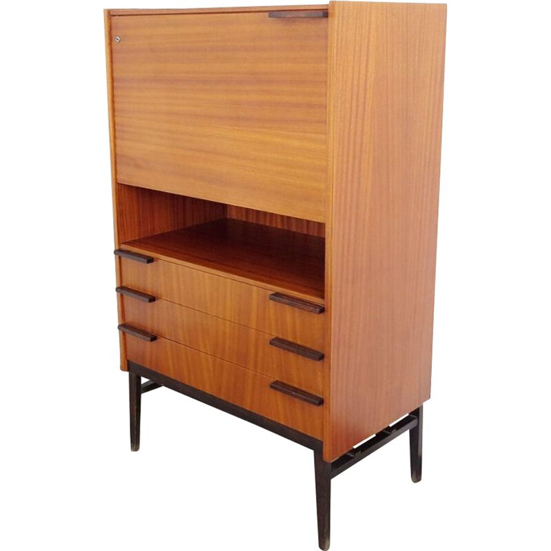 Vintage secretary in wood by František Mezulanik, 1960s