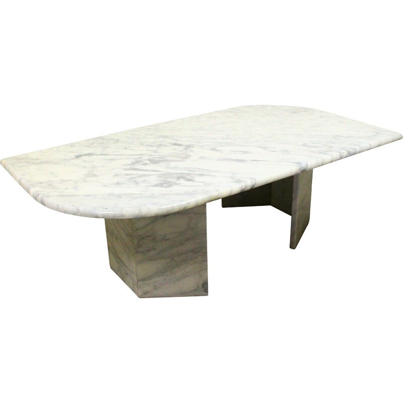 Vintage table in Carrara Marble 1970