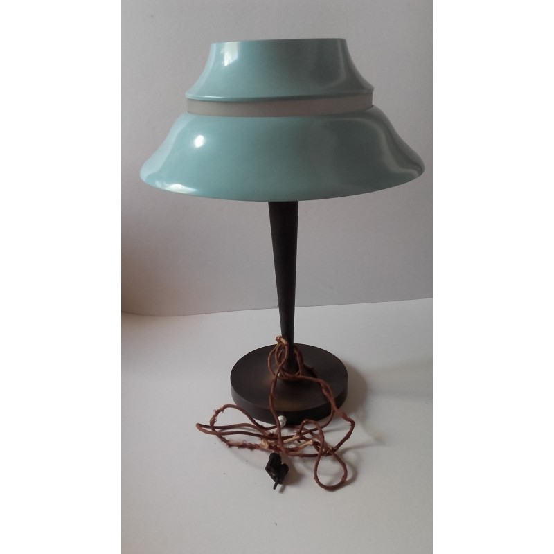 Lampe Perzel vintage lamp in bronze, metal and cristal, jean perzel - 1950s