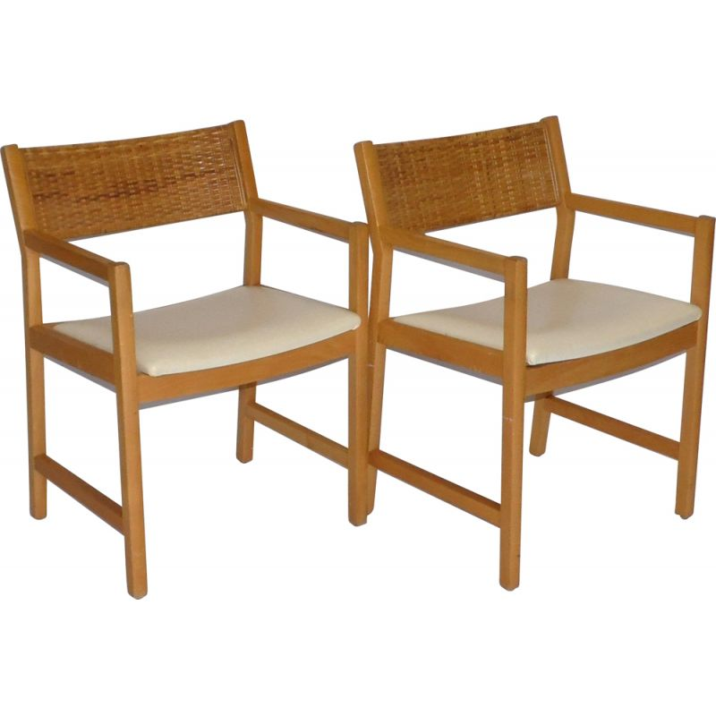 Pair of vintage armchairs by Christian Hvidt 1960