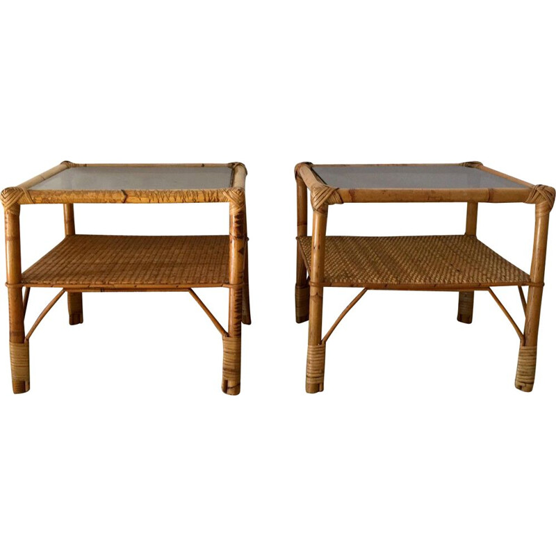Vintage rattan sofa pieces 1970
