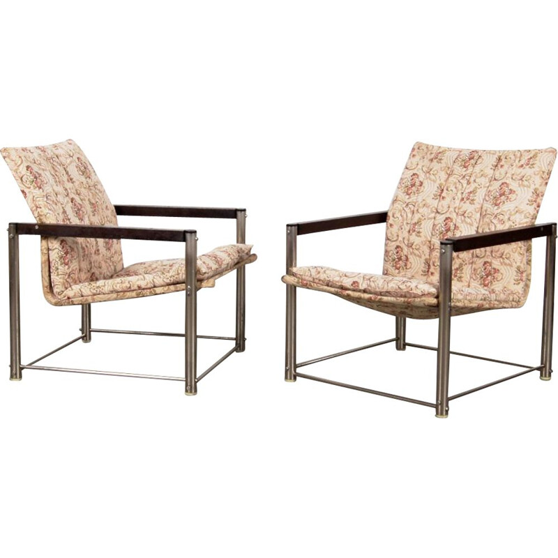 Set of 2 vintage armchairs with patterns by Petr Svacha, 1970s
