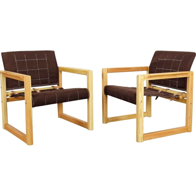 Set of 2 vintage armchairs by Karin Mobring, 1970s