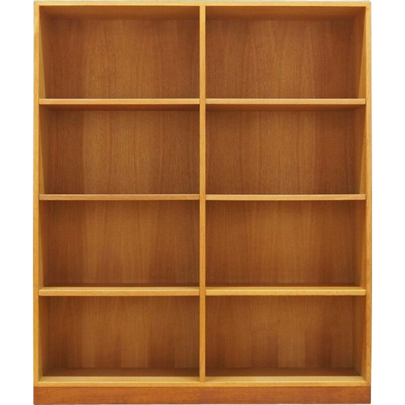 Vintage ash bookcase by SKM, 1960-70s