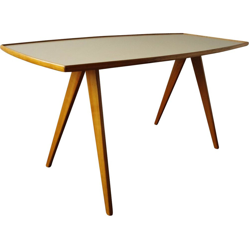 Vintage wooden dining table by Mobel Mann, 1960s