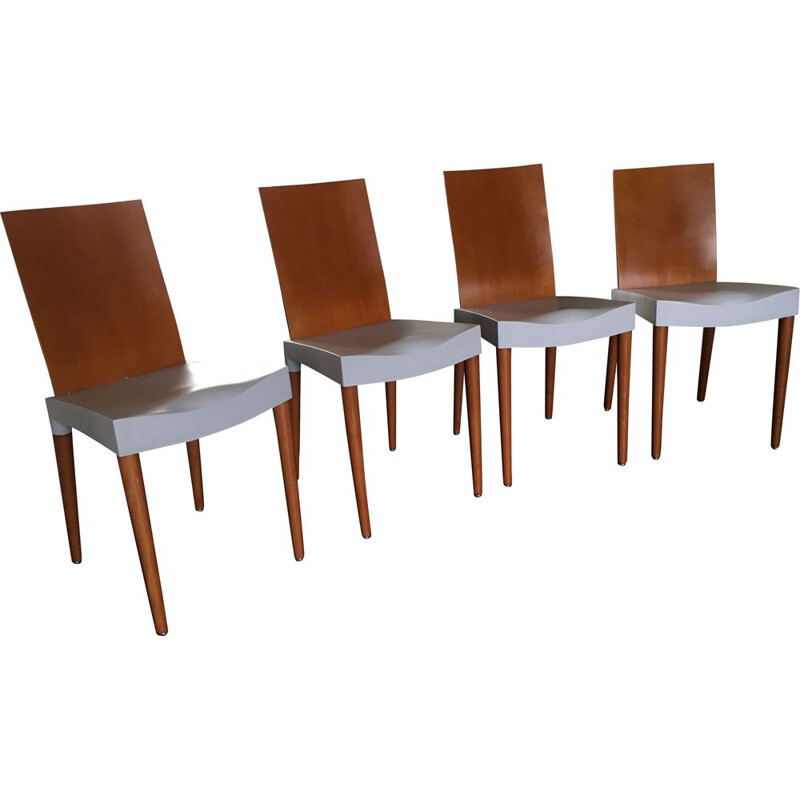 Set of 4 vintage dining chairs by Philippe Starck for Kartell, 1990s