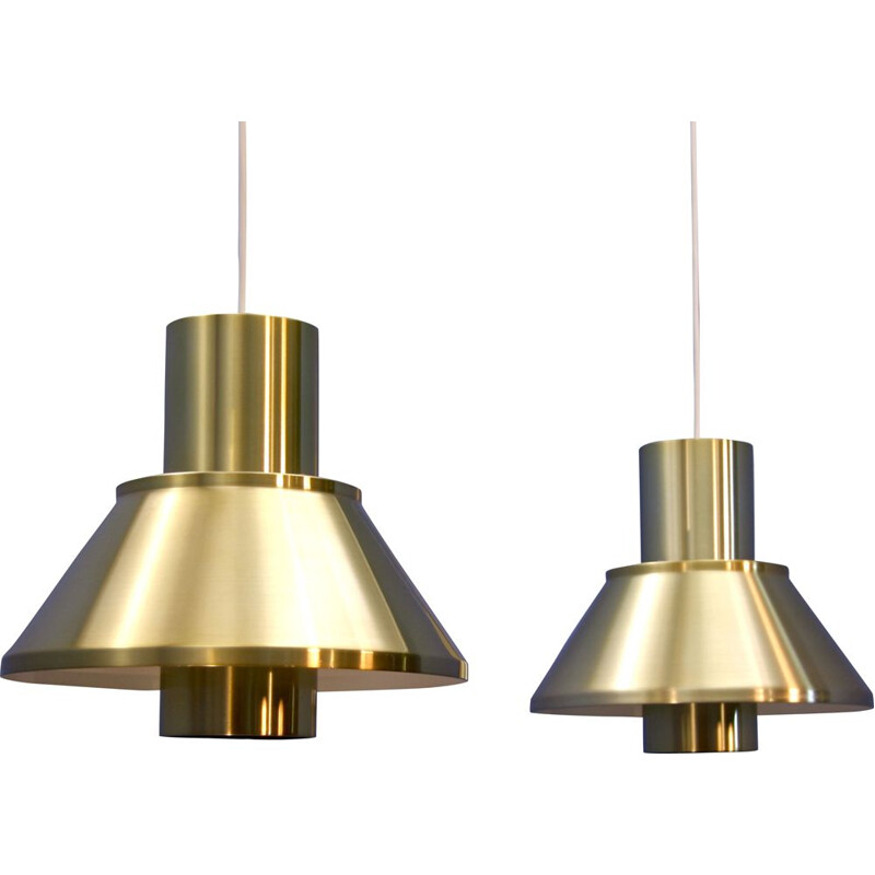 "Set of 2 ""Life"" pendant lights by Jo Hammerborg for Fog and Mørup, 1960s"
