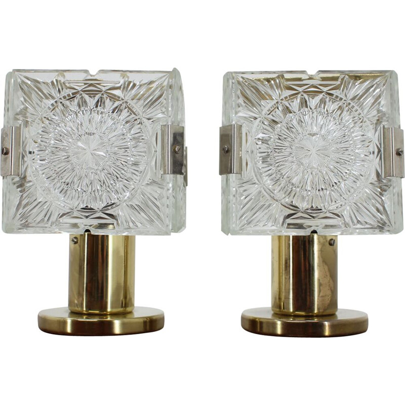 Pair of Kamenicky Senov vintage table lamps, 1970s