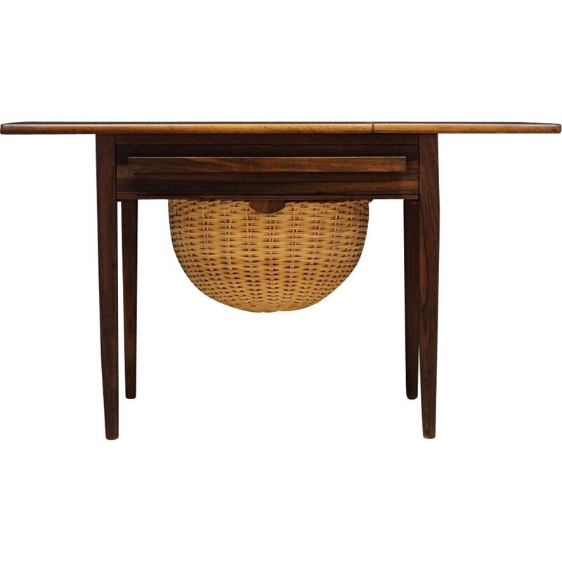 Danish vintage sewing table by Johannes Andersen, 1970s