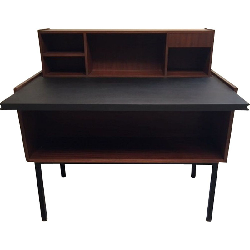Vintage desk with retractable step system 1960