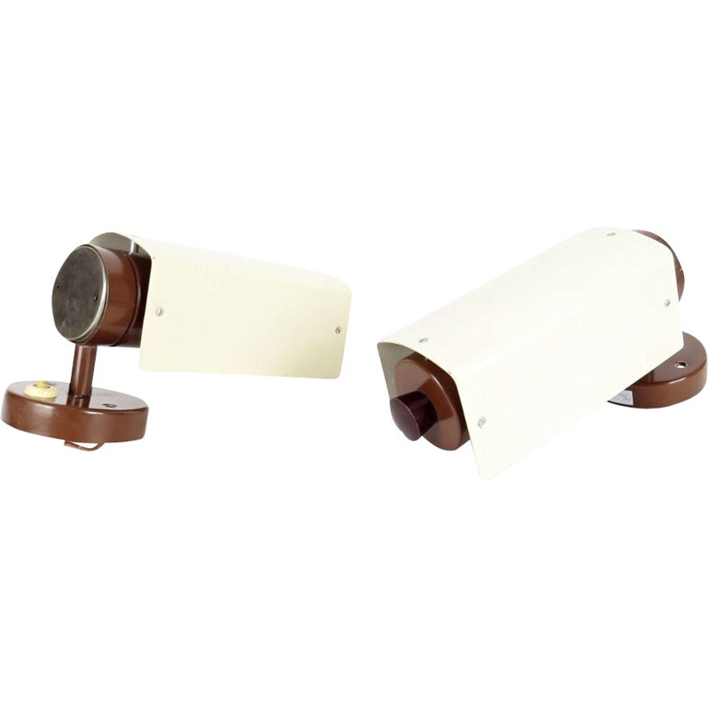 Pair of vintage wall lamp by Napako, Czechoslovakia, 1970
