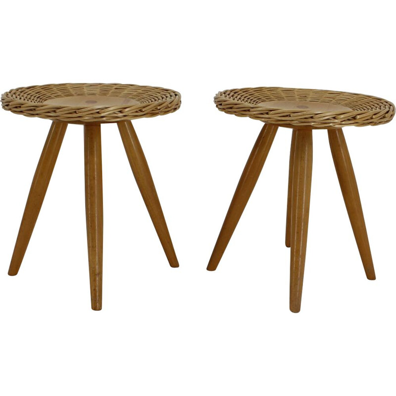 Vintage pair of stools by ULUV, 1980s