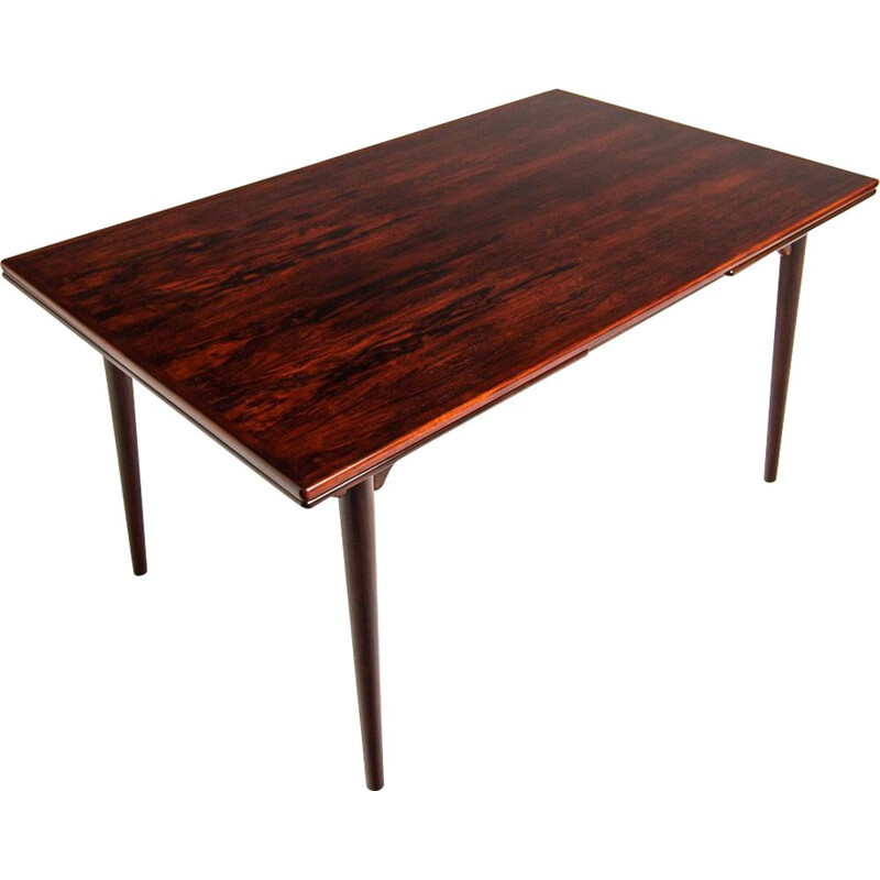 Vintage rosewood dining table by Omann Junior, 1960s