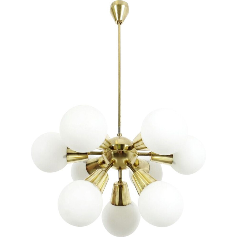 Vintage chandelier by Kamenicky Senov, 1970