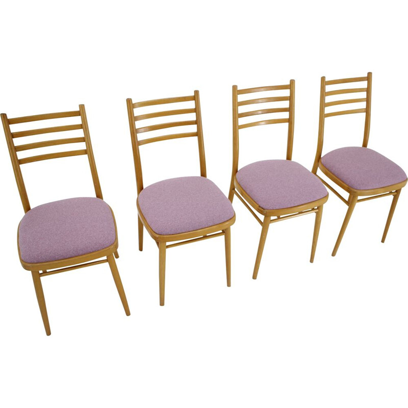 Set of 4 vintage dining chairs by Interier Praha, Czechoslovakia, 1970