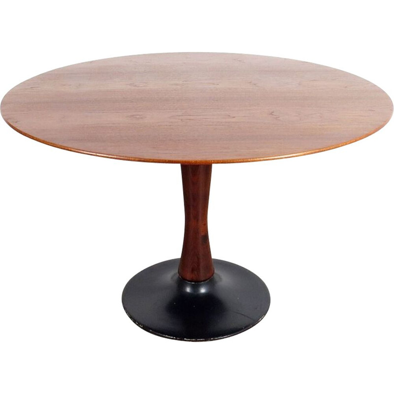 Vintage round dining table by Drevotvar Jablonne nad Orlici, 1970