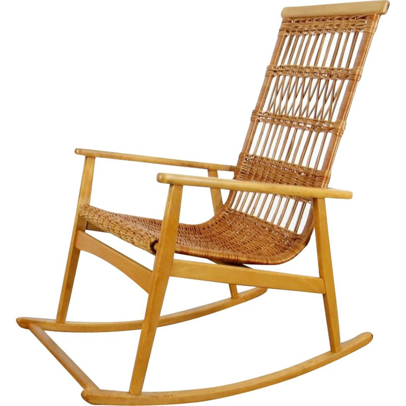 Vintage rocking chair by ULUV, 1970s