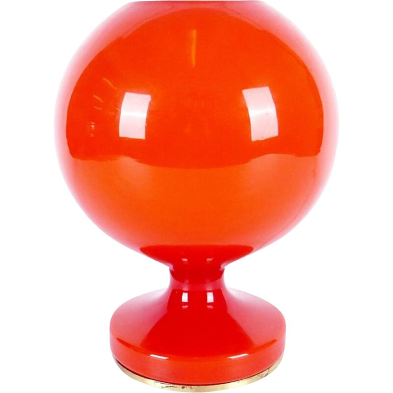 Orange vintage table lamp, 1970s