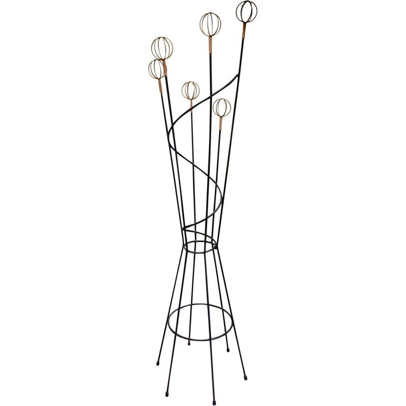 Vintage coat rack Geo Astrolabe by Roger Feraud, 1960s