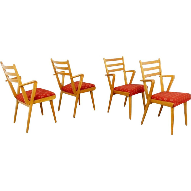 Vintage set of 4 Dining chairs by Jitona, 1950s