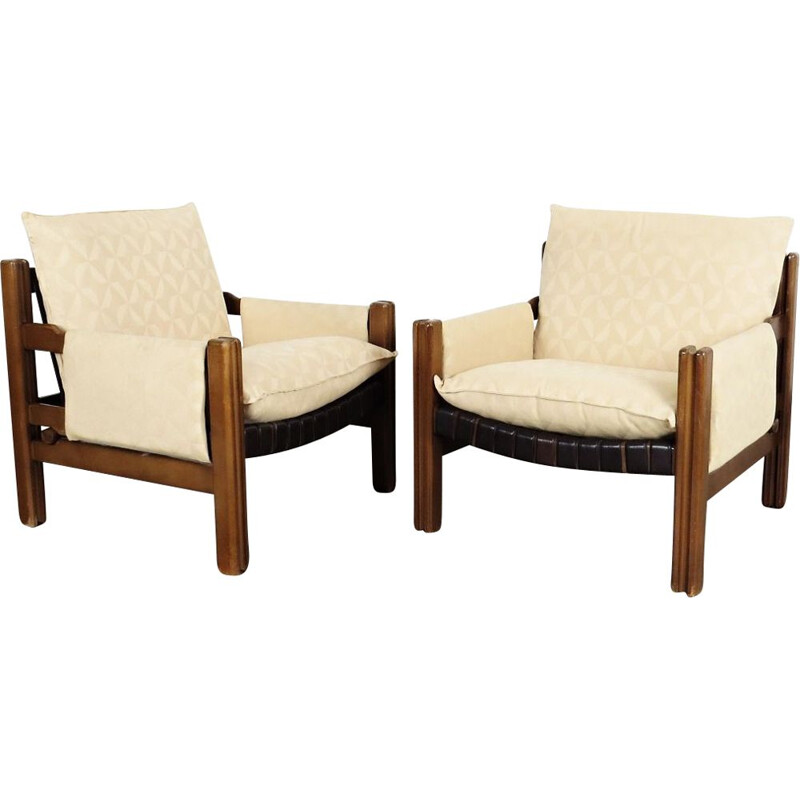 Vintage pair of armchairs by Tron, 1980
