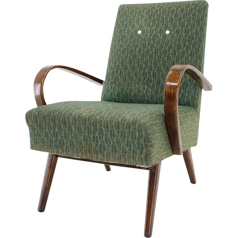Vintage Pair of armchairs by Jindrich Halabala  1960s