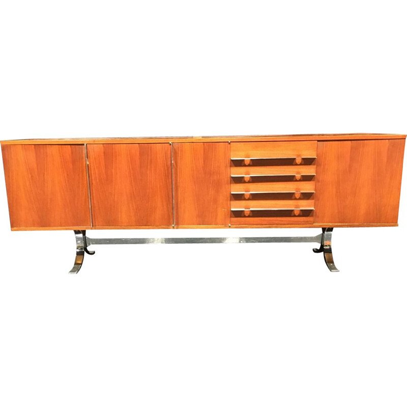 "Vintage sideboard by René Jean Caillette in rosewood, model ""Sylvie"" for Georges Charron"