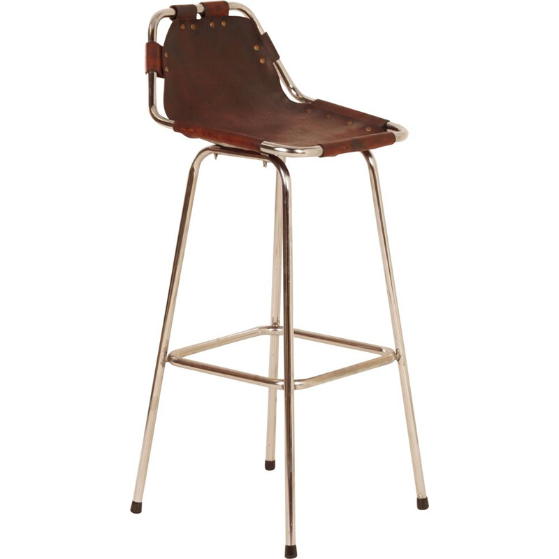 "Vintage Bar Stool ""Les Arcs"" for Charlotte Perriand, Designer Uknown, 1960s"