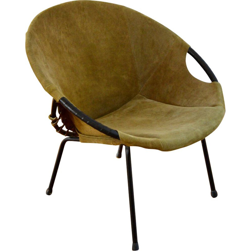 """Vintage armchair """"Circle"""" by Lusch Erzeugnis, Germany, 1960s"""