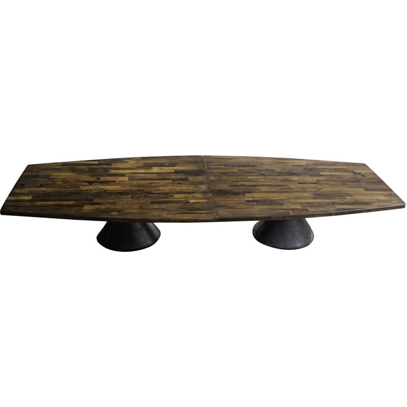 """Vintage """"Guanabara"""" rosewood dining table by Jorge Zalszupin"""