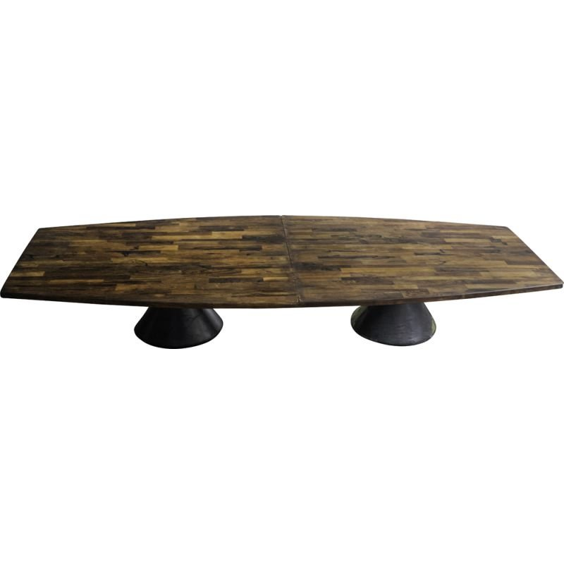 "Vintage ""Guanabara"" rosewood dining table by Jorge Zalszupin"