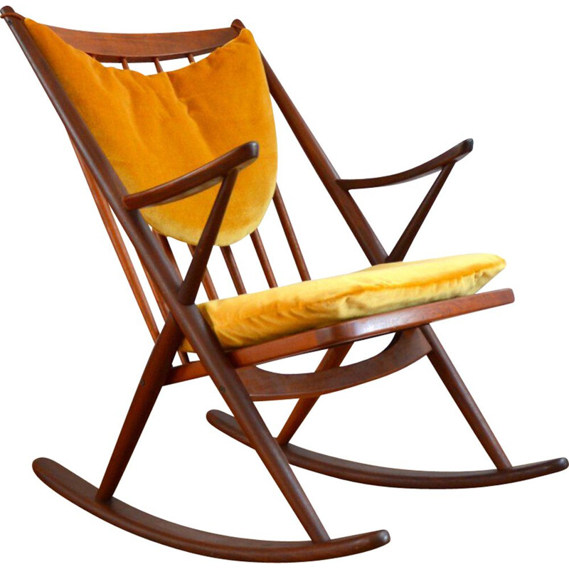 Vintage rocking chair by Frank Reenskaug for Bramin, 1960
