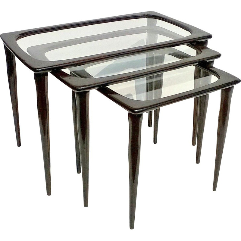 Vintage nesting tables by Ico Parisi for De Baggis,1950s