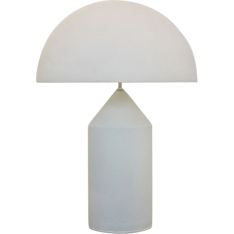 Large Atollo vintage table lamp in white glass by Vico Magistretti for Oluce, Italy, 1960s