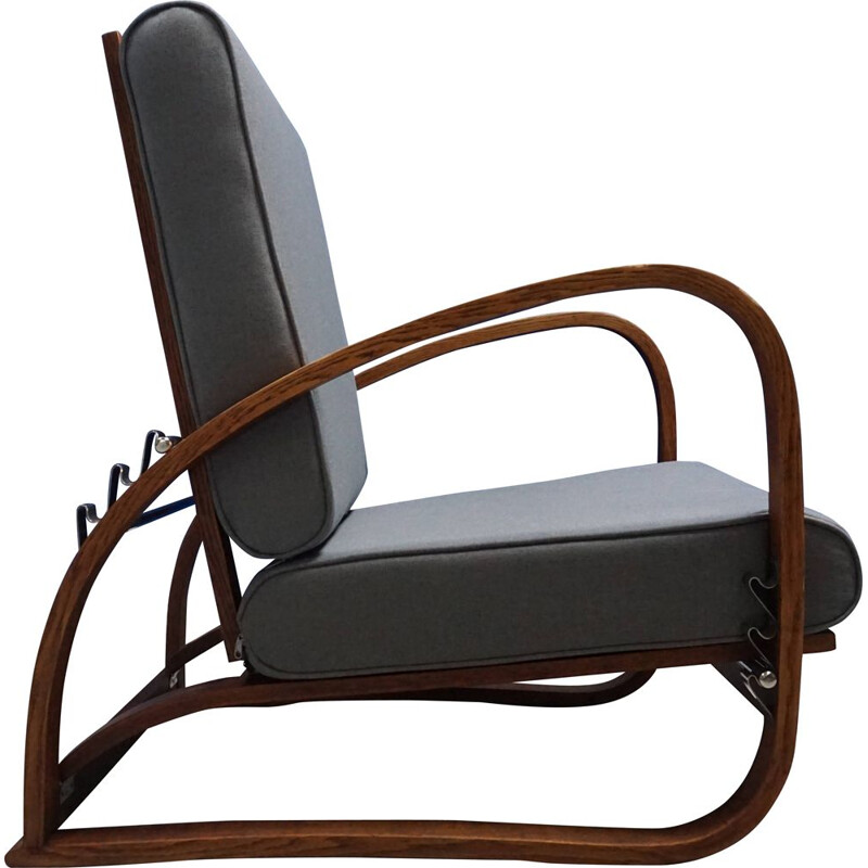 Bentwood vintage armchair by Jindrich Halabala, 1930