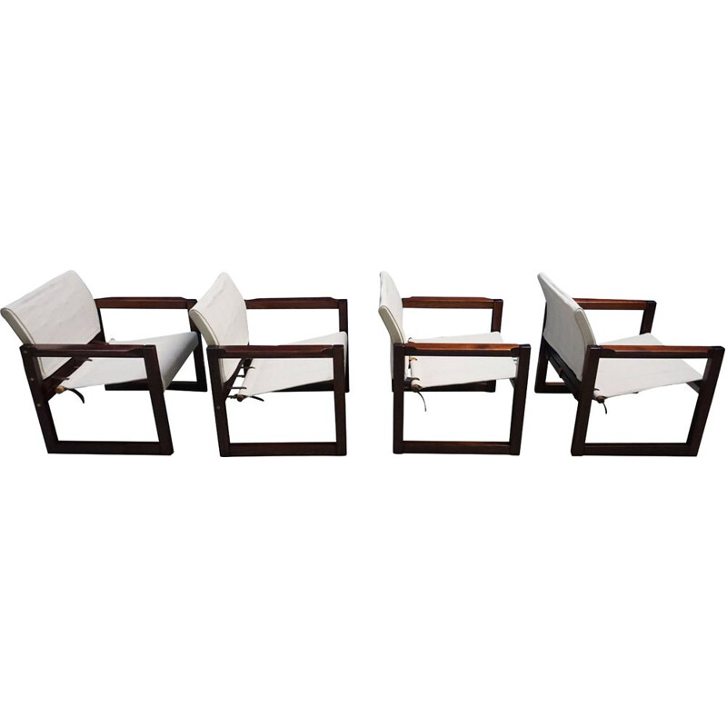 Set of 4 vintage Diana Safari armchairs by Karin Mobring for Ikea, 1972