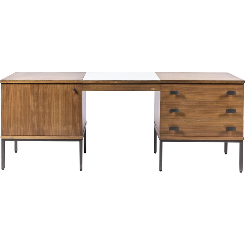 Vintage rosewood desk by Antoine Philippon and Jacqueline Lecocq, 1965