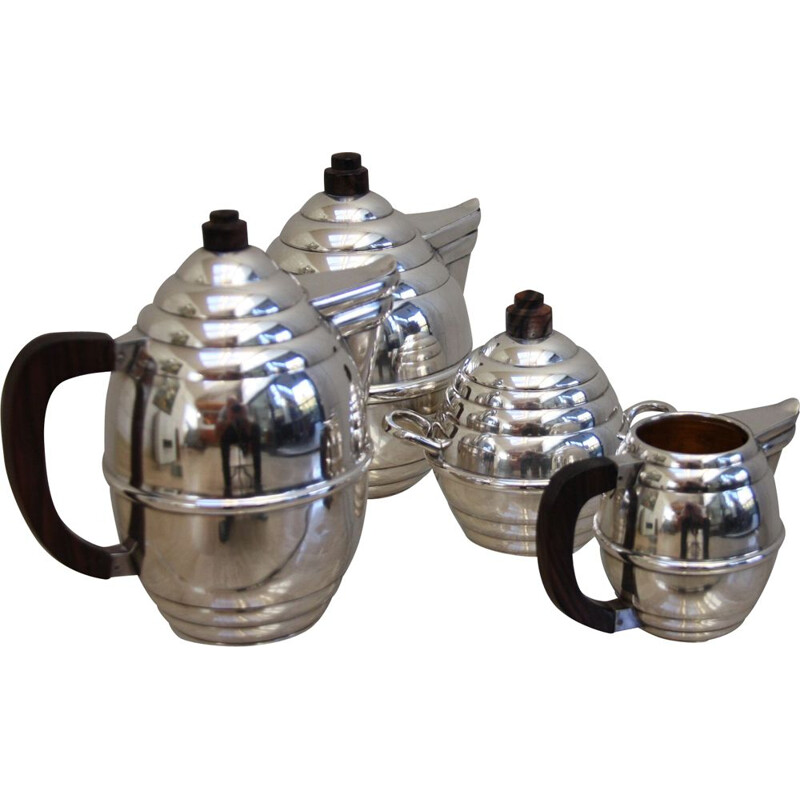 Vintage Silver plated coffee and tea set, France 1950s