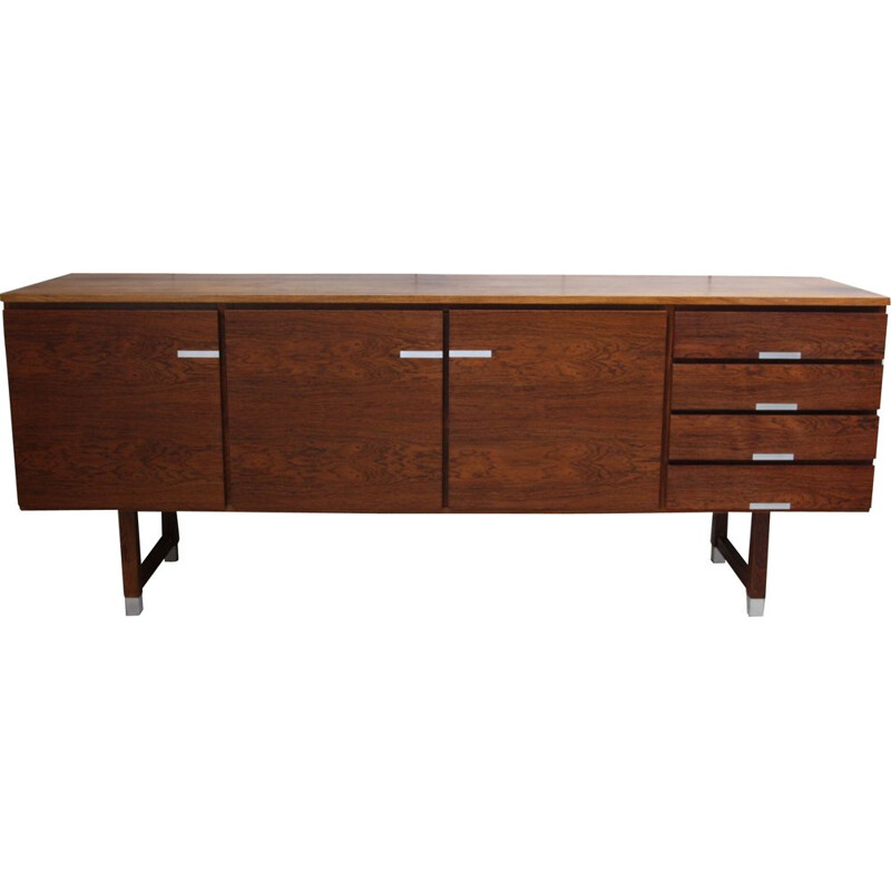 Vintage Sideboard in rosewood and aluminium by Kai Kristiansen, Denmark 1960