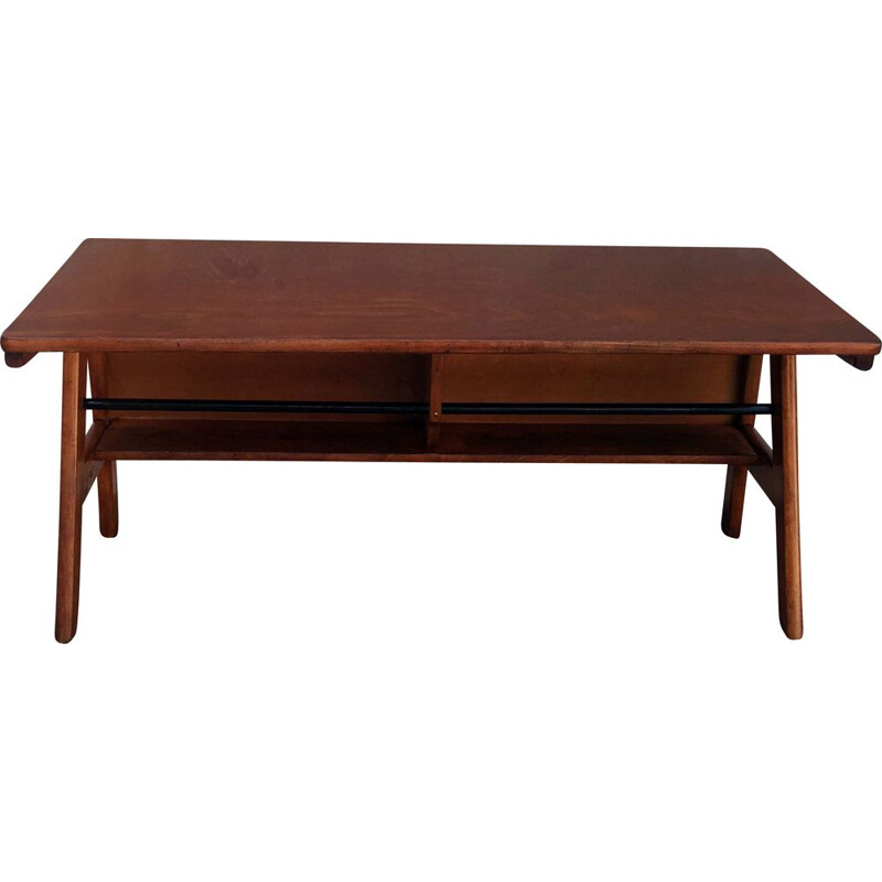 Vintage oak console table, 1950