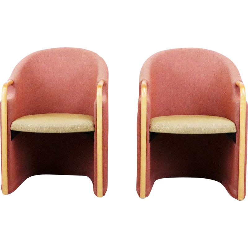 Pair of Swedish vintage armchairs, 1970