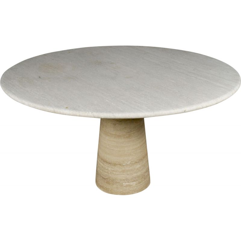 Vintage round table in travertine, 1960