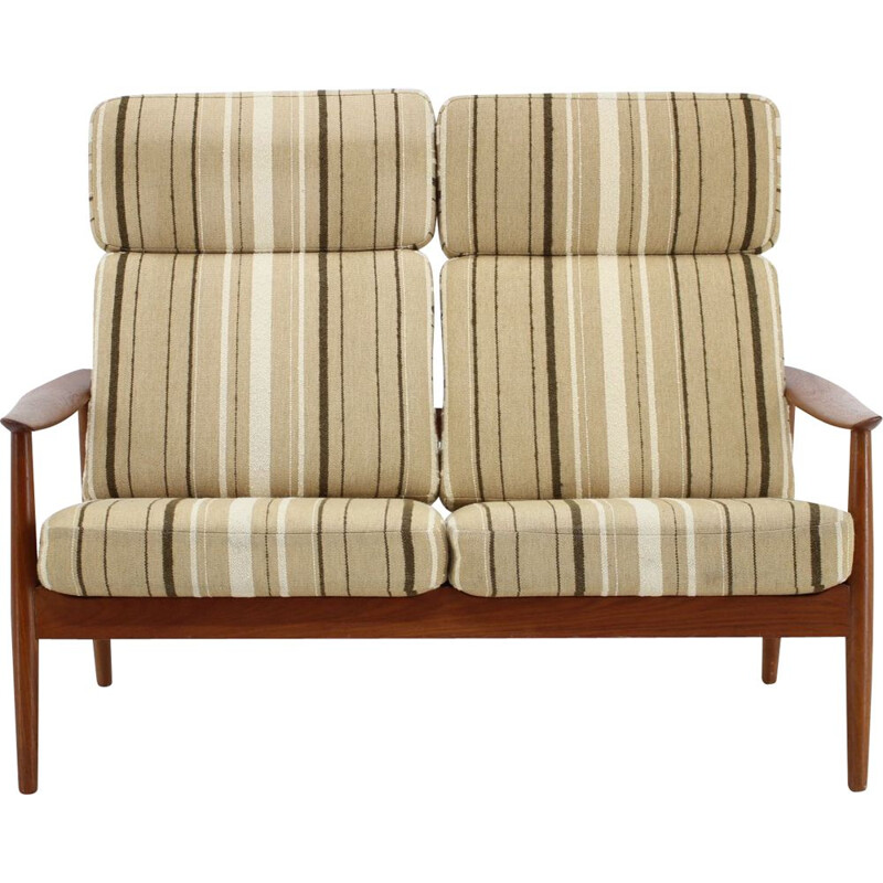 Pair of vintage seat sofa FD 164, Arne Vodder France & Son, Denmark, 1960
