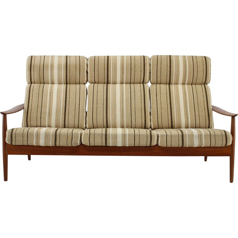 Vintage three-seat sofa FD 164 Arne Vodder, France & Son, Denmark, 1960