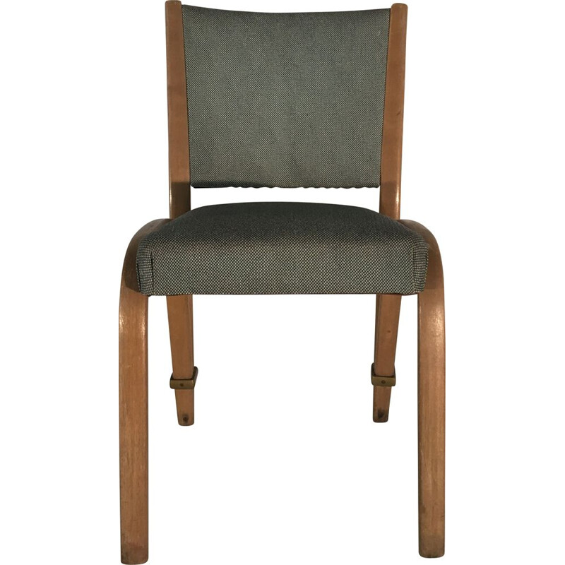 Pair of vintage Bow-wood chairs ed. Steiner 1950