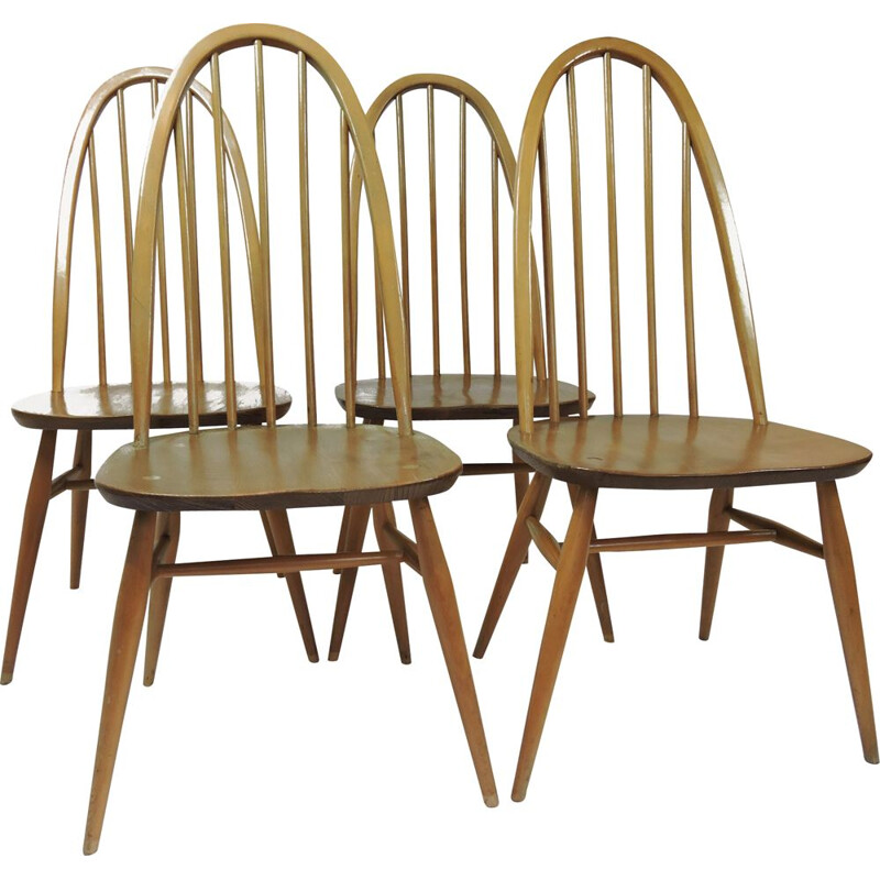 Set of 4 vintage dining chairs by Lucian Ercolani, 1960s